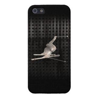 Esquí de la nieve; Negro fresco iPhone 5 Cárcasa