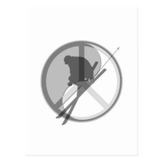 esquí de la paz de yang del yin tarjetas postales