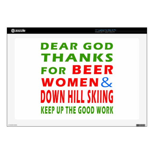 Esquí de las mujeres y abajo de la colina de la ce skins para portátiles