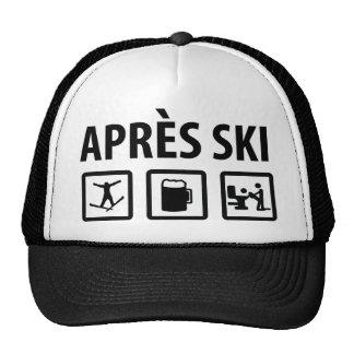 esquí de los apres gorras