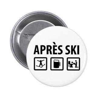 esquí de los apres pin redondo de 2 pulgadas
