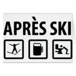 esquí de los apres tarjeton