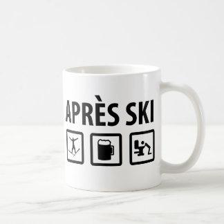 esquí de los apres tazas