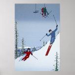 Esquí de los paisajes posters
