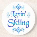 Esquí de Lovin Posavasos Manualidades