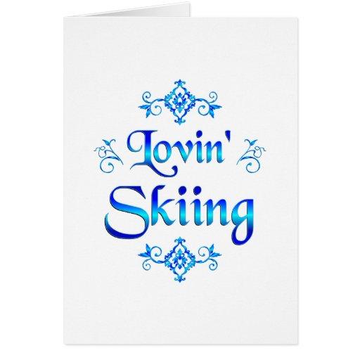 Esquí de Lovin Tarjeta