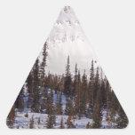 Esquí de Montana del cielo y centro turístico Calcomanía Trianguladas Personalizadas