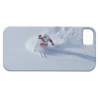 Esquí de Santa en la estación de esquí del iPhone 5 Funda