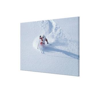 Esquí de Santa en la estación de esquí del Lona Envuelta Para Galerias