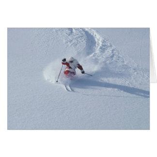 Esquí de Santa en la estación de esquí del Snowbir Tarjeta De Felicitación