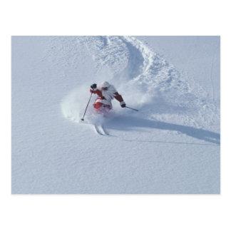 Esquí de Santa en la estación de esquí del Tarjetas Postales