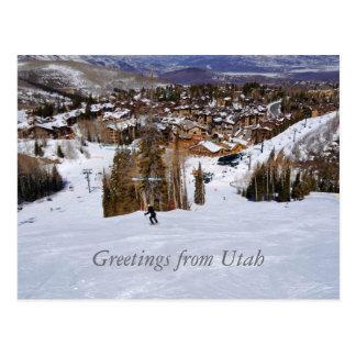 Esquí de Utah Tarjetas Postales