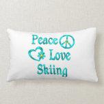 Esquí del amor de la paz almohada