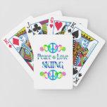 Esquí del amor de la paz cartas de juego