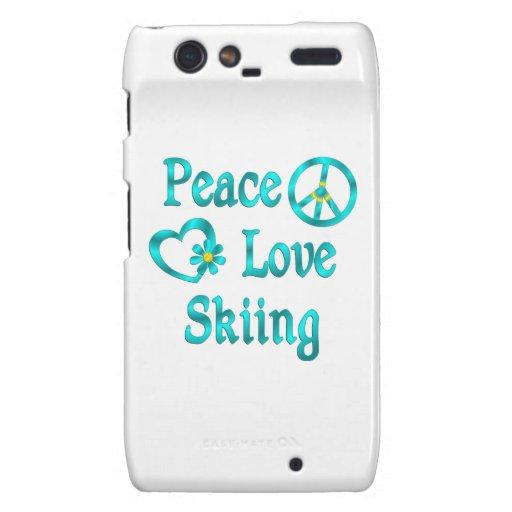 Esquí del amor de la paz motorola droid RAZR carcasas
