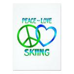 ESQUÍ del amor de la paz Invitación 12,7 X 17,8 Cm