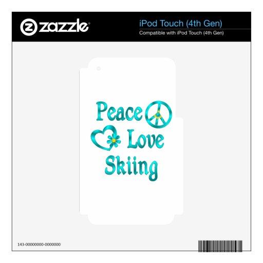 Esquí del amor de la paz iPod touch 4G skin