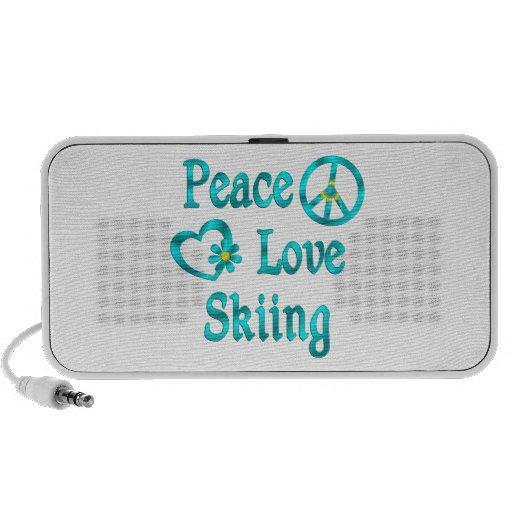 Esquí del amor de la paz mp3 altavoces