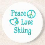 Esquí del amor de la paz posavasos manualidades