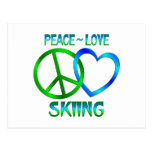 ESQUÍ del amor de la paz Postal