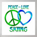 ESQUÍ del amor de la paz Poster