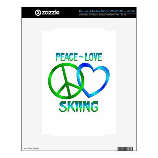 ESQUÍ del amor de la paz Skins Para elNOOK