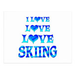 Esquí del amor del amor postal