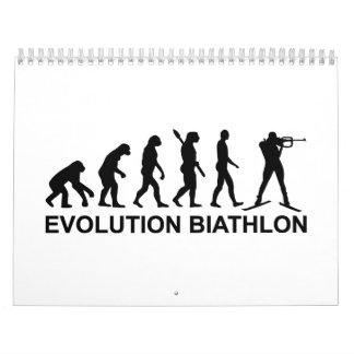 Esquí del Biathlon de la evolución Calendarios