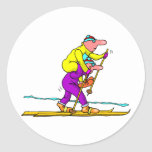 Esquí del campo a través etiqueta