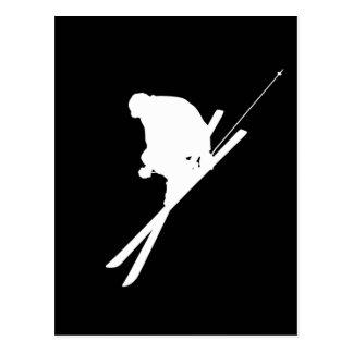 Esquí del estilo libre postales