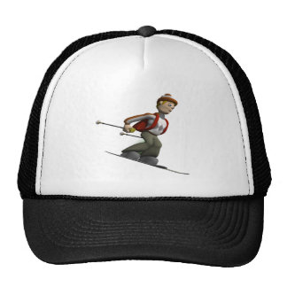Esquí del hombre gorra