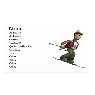 Esquí del hombre tarjetas de visita