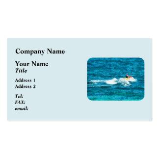 Esquí del jet del hombre tarjeta de negocio