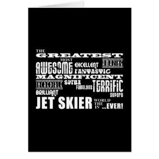 Esquí del jet: El esquiador más grande del jet Tarjeta Pequeña