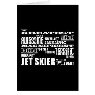 Esquí del jet: El esquiador más grande del jet Tarjeta De Felicitación