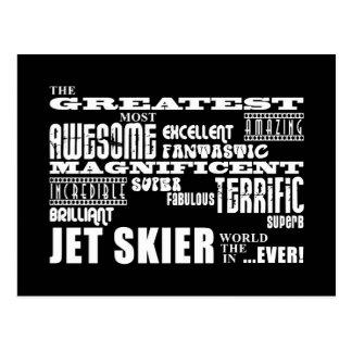 Esquí del jet: El esquiador más grande del jet Tarjetas Postales