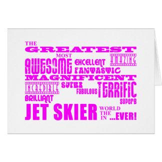 Esquí del jet: Esquiador más grande rosado del jet Tarjeta Pequeña