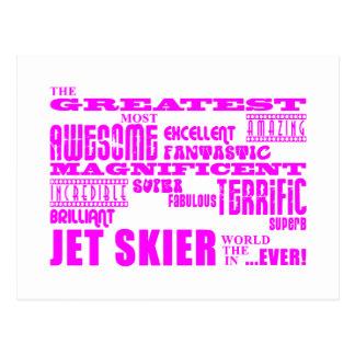 Esquí del jet: Esquiador más grande rosado del jet Postales