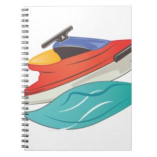 Esquí del jet spiral notebook