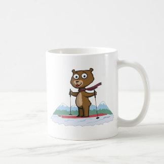 Esquí del oso de peluche taza de café