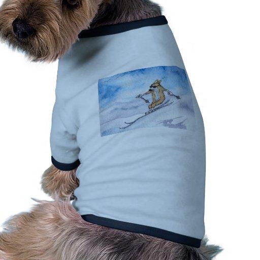 Esquí del perro del Corgi Galés Camiseta De Perrito