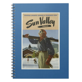 Esquí del vintage de Sun Valley Idaho Spiral Notebook