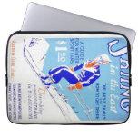 Esquí del vintage en el poster del este de WPA Funda Computadora