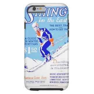 Esquí del vintage en el poster del este de WPA Funda Para iPhone 6 Tough