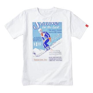Esquí del vintage en el poster del este de WPA Playera Zazzle HEART