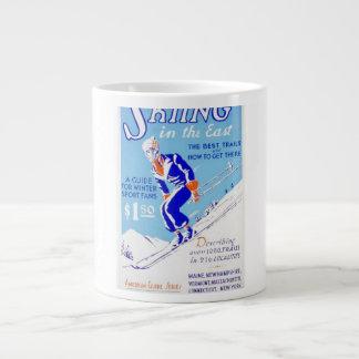 Esquí del vintage en el poster del este de WPA Taza Grande