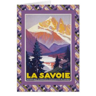 Esquí del vintage, Francia, La Saboya Tarjeta De Felicitación