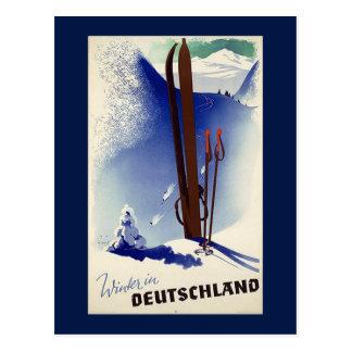 Esquí Deutschland en invierno Tarjetas Postales