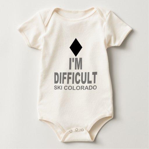Esquí difícil Colorado Mamelucos De Bebé
