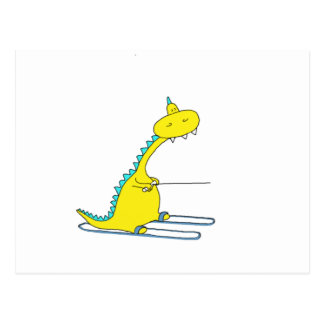 esquí Dino Postal